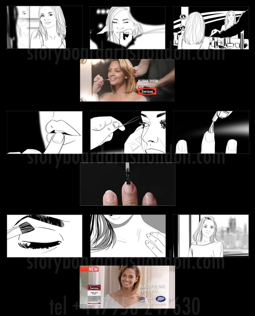 Freelance storyboard artist London Alesha Dixon