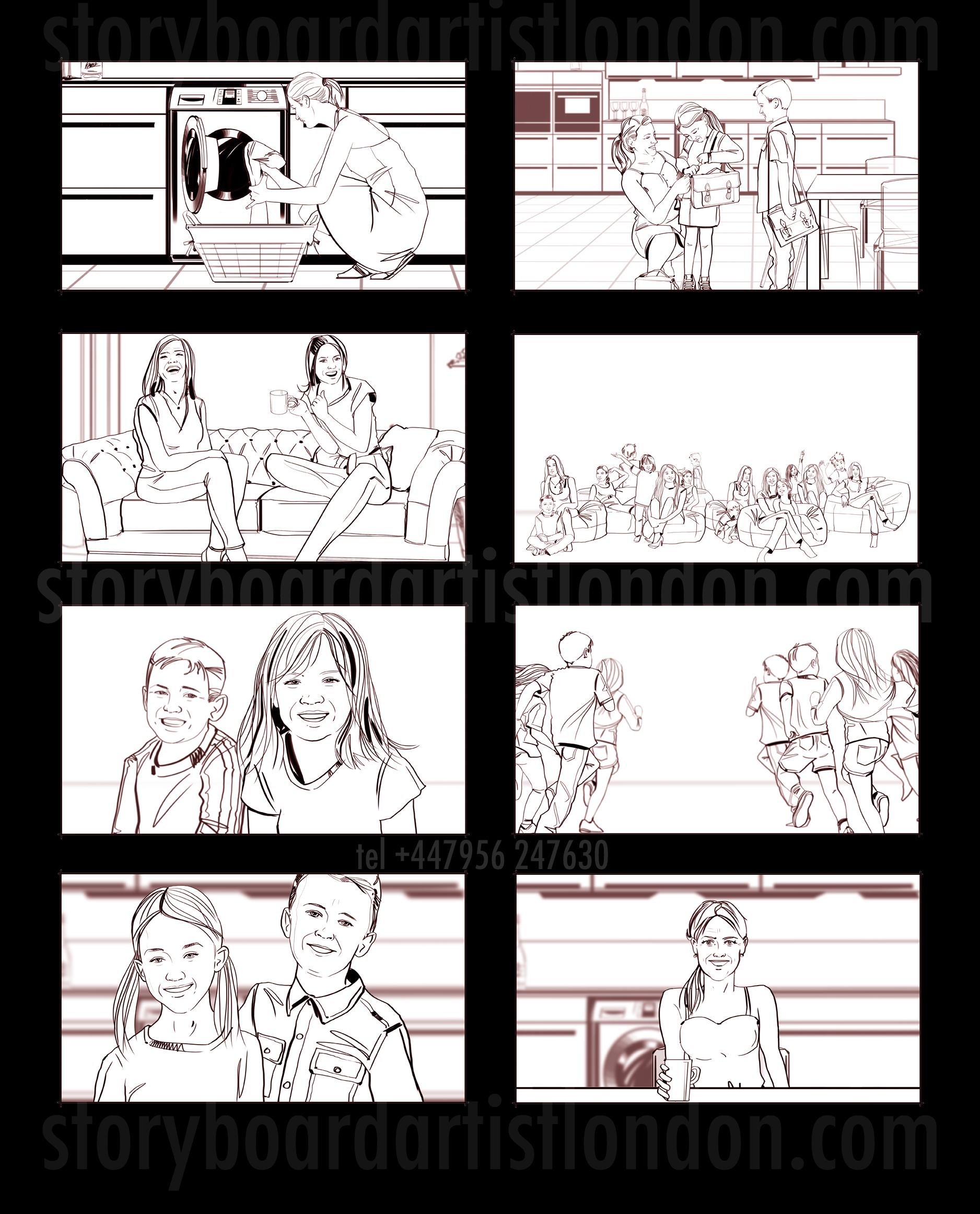 Freelance storyboard artist London storyboard kunstenaar Amsterdam