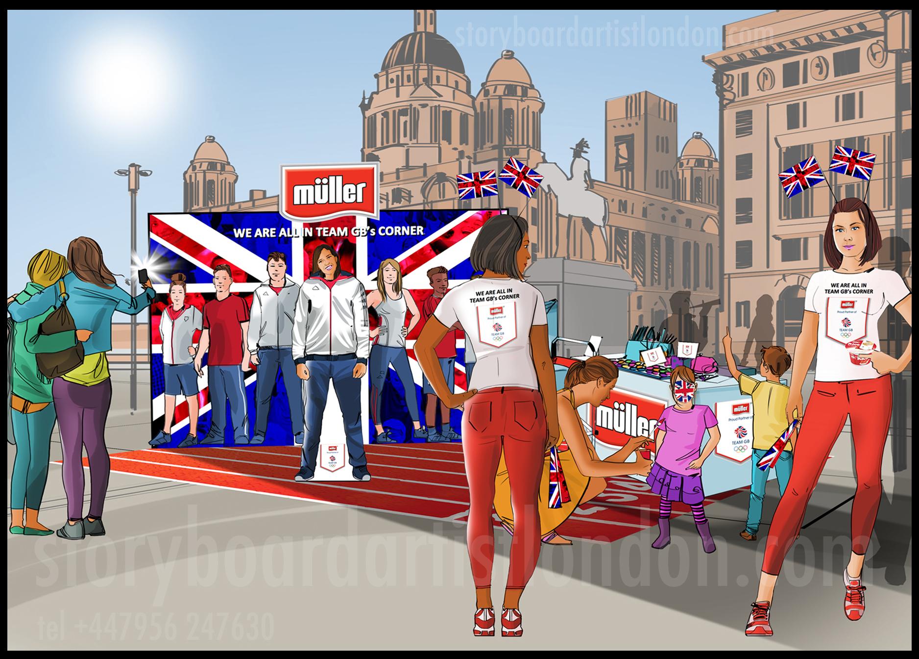 Freelance storyboard artist London