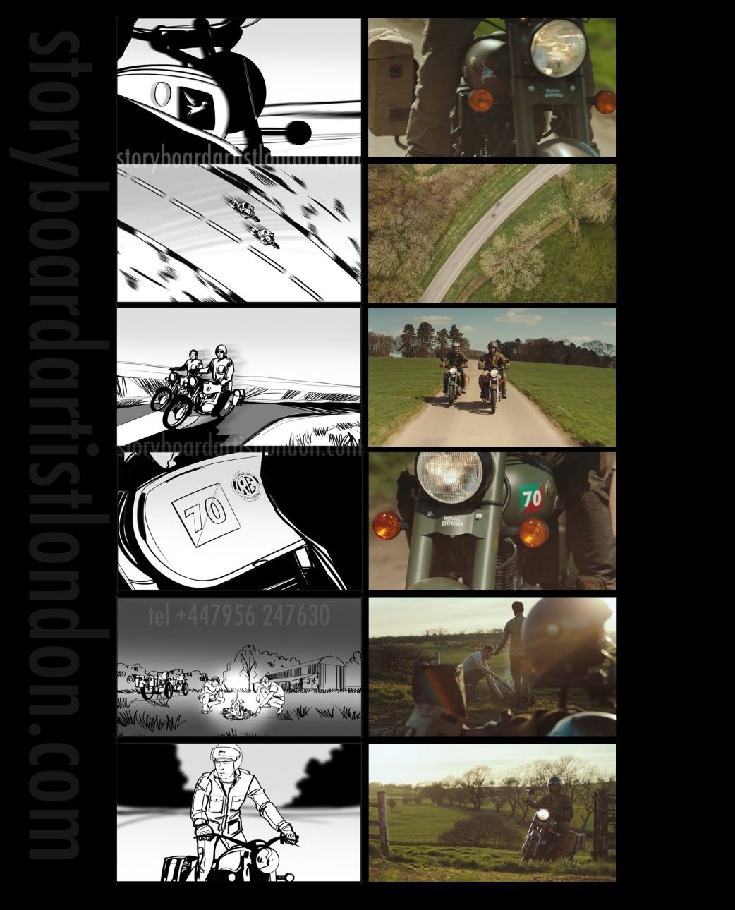 Freelance storyboard artist London Royal Enfield Pegasus
