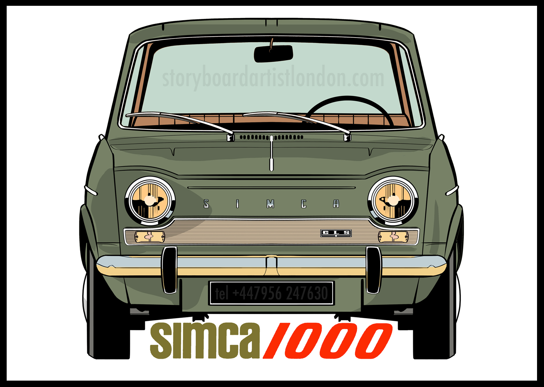Freelance illustrator London simca 1000