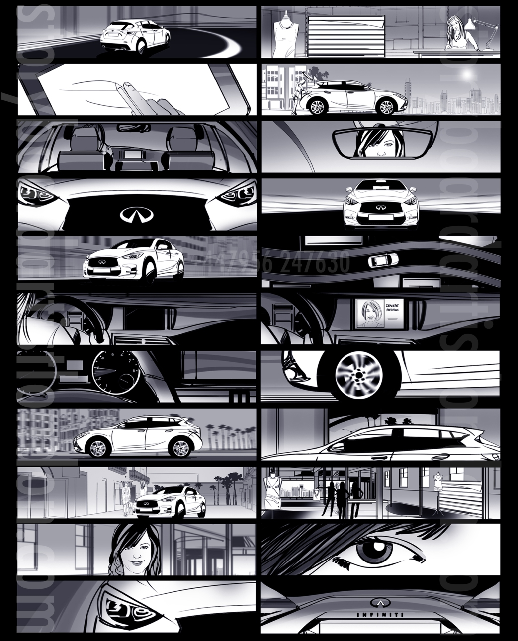 Freelance storyboard artist London