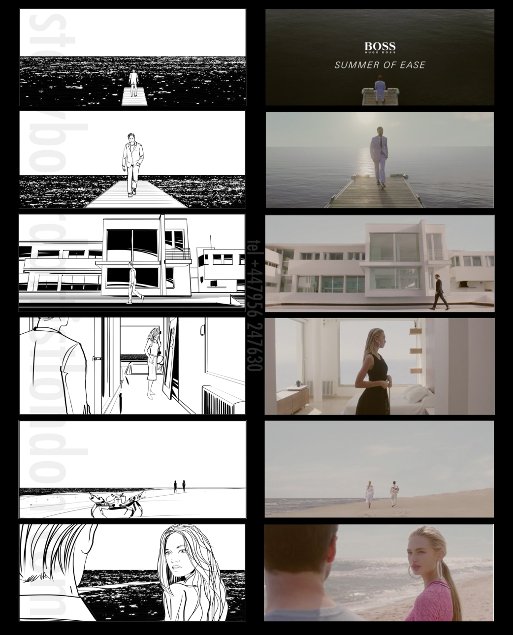 Freelance storyboard artist London Hugo Boss