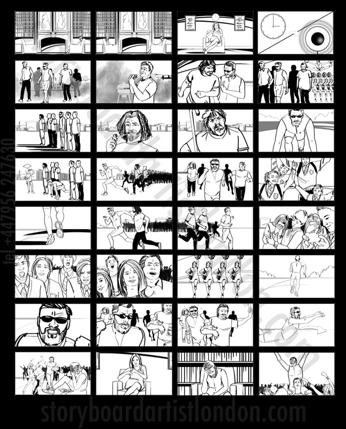 Freelance film storyboard artist London